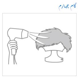 خشک کردن پروتز مو